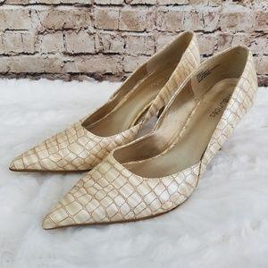 Maurices Crocodile Print Pointed Heels